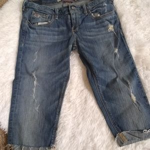 Denim - Distressed Hollister crops
